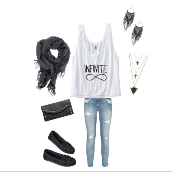 Infinity moccasins outfit casual