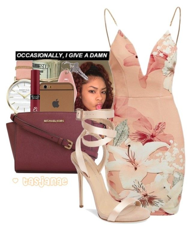 """"""""""" by tasjanae ❤ liked on Polyvore featuring ROSEFIELD, Victoria's Secret, Ginger Fizz, MICHAEL Michael Kors and Giuseppe Zanotti"""