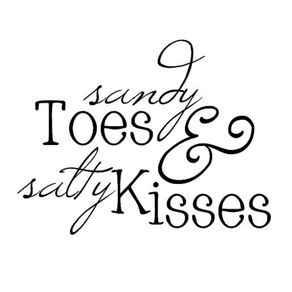 Sandy Toes and Salty Kisses Ocean Beach Vinyl by TheVinylLetter, $7.99