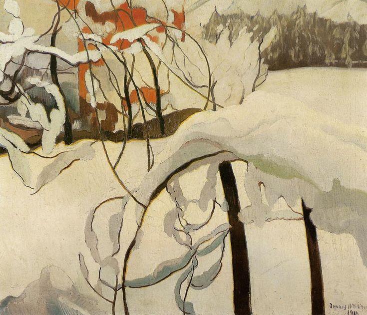 Stanisław Ignacy Witkiewicz (Polish, 1885-1939),Winter Landscape II, 1912. Oil on canvas, 59 x 70cm. Museum of Central Pome...