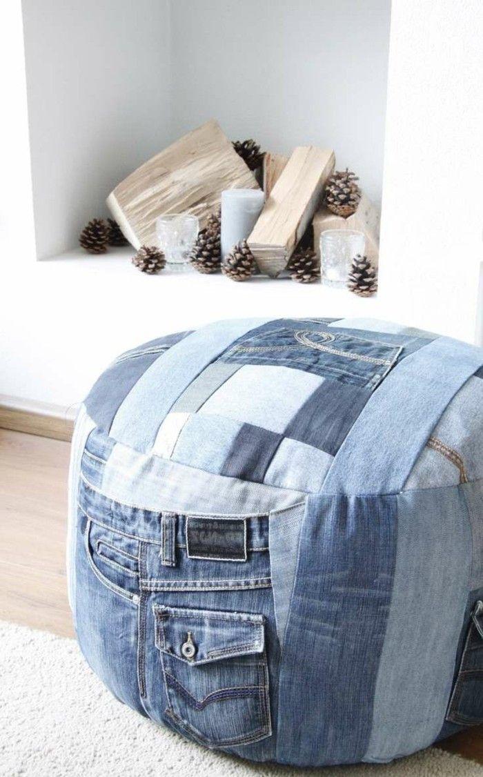 einfache bastelideen alte jeans wiederverwenden