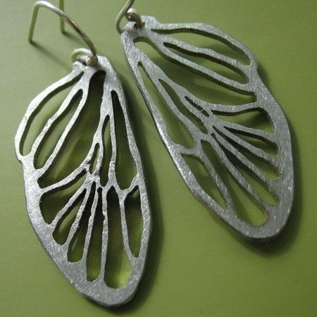 Small Cicada Line Earrings by sudlow on Etsy, $28.00
