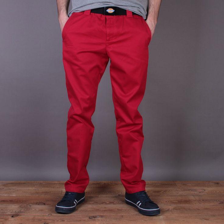 Czerwone spodnie materiałowe Dickies C182 GD Pant English Red / www.brandsplanet.pl / #dickies streetwear