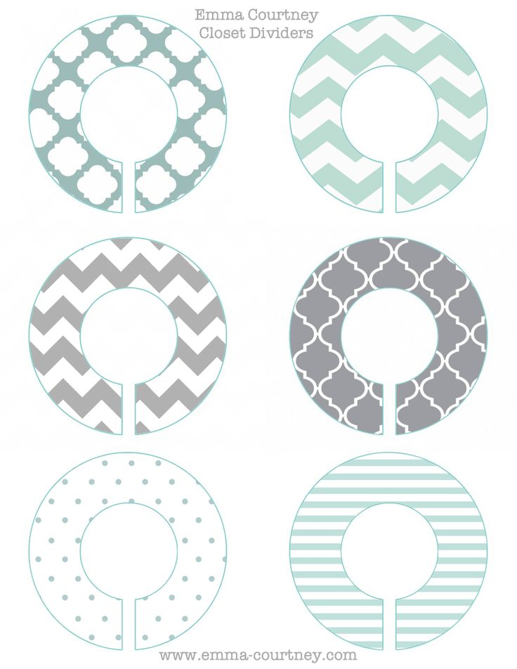 Emma Courtney: Closet Dividers Printable                                                                                                                                                                                 Mais