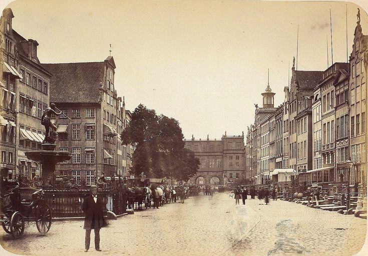 Danzig/Gdańsk - Gate at the Long Market, 1865