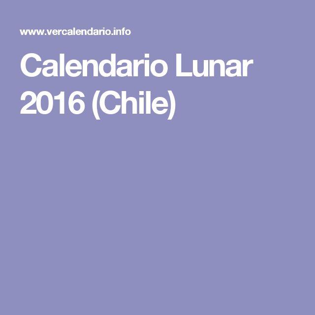 Calendario Lunar 2016 (Chile)