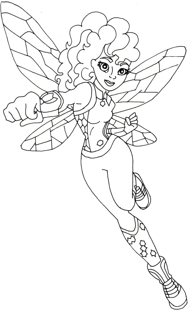 Free printable super hero high coloring page for bumblebee below is bigger but it's in