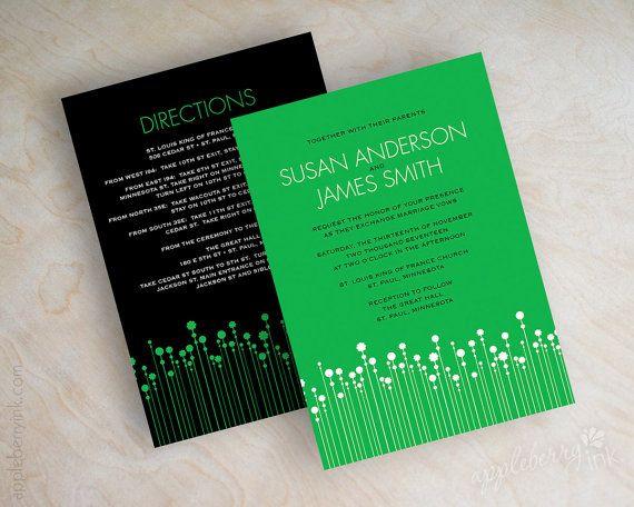 Hey, I found this really awesome Etsy listing at https://www.etsy.com/listing/120976806/emerald-green-wedding-invitations-polka