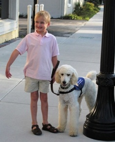 Autism Service Dogs - these dogs provide excellent therapy for children with autism and also allow the children to feel safe and bond with the animal