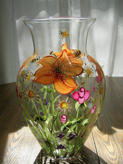 'You are my Sunshine' pretty hand-painted Vase!