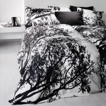 Tuuli duvet cover and pillow case, black