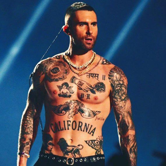 Adam Levine Halloween 2020 Adam Levine Halloween Temporary Tattoo set | Etsy in 2020 | Adam