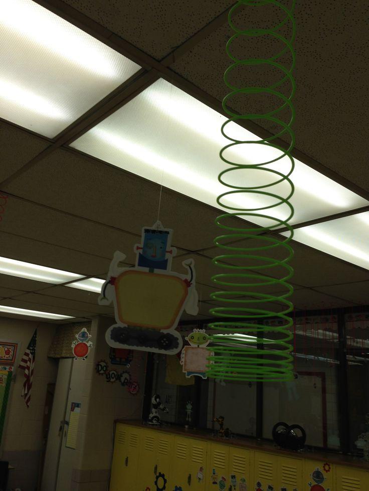 Robot Classroom Decor : Springs and robots my quot riveting classroom