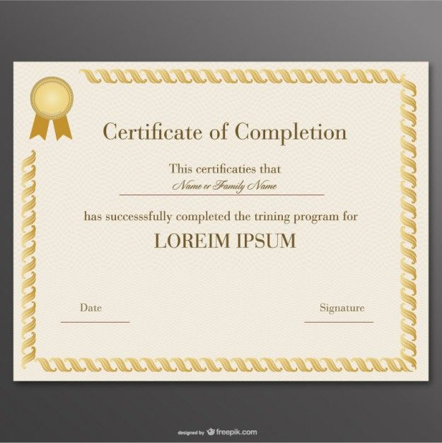 58 best Certificados y Diplomas - vector images on Pinterest - best of certificate of completion template word