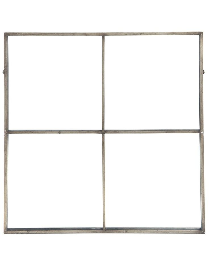 mirrordeco.com — Window Frame Mirror - Antique Silver Frame H:80cm