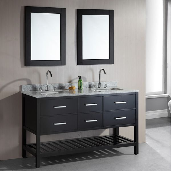 design element bathroom vanities design element 61 inch sink espresso 17236