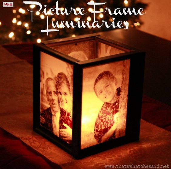 Gift Ideas - I really love this luminated picture frame. You just need to glue four picture frames together with four of your favourite pictures displayed in them, add a tea light and a glass mirror at the bottom and you have a fabulous gift. This would be great for Mother's Day, Father's Day, for Grandparent's or pretty much any occasion for someone who would appreciate a unique picture gift.