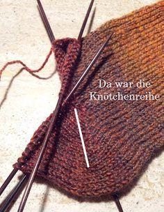 Das Bärendorf: Socken-Anleitung für Anfänger, Ferse ohne Löcher