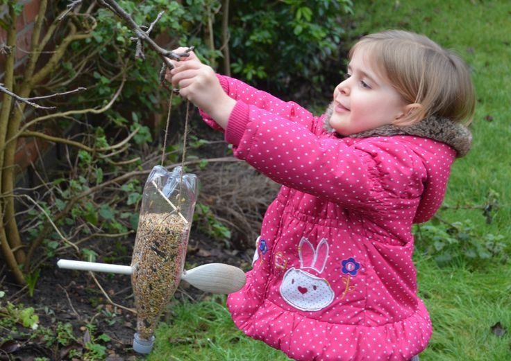 Homemade bird feeders and family fun with the annual RSPB Big Garden Birdwatch.
