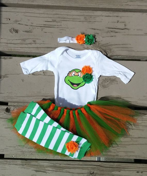 Hey, I found this really awesome Etsy listing at https://www.etsy.com/listing/196527015/baby-ninja-turtle-girl-outfit-baby