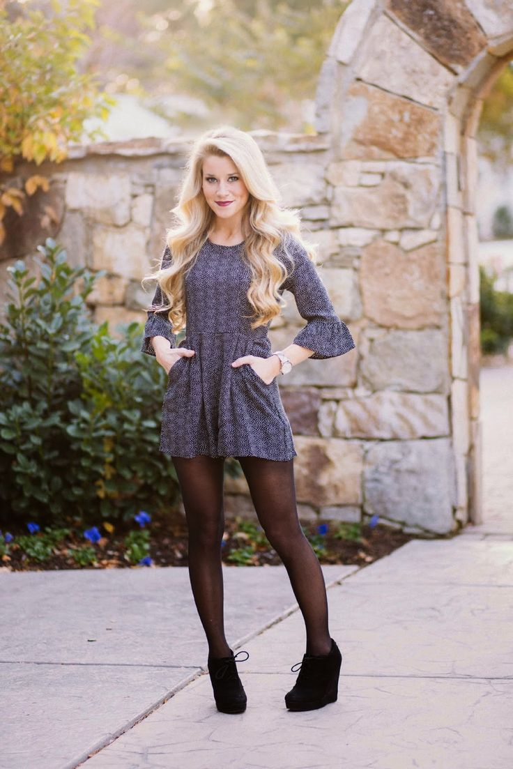 1000+ ideas about Dress With Tights on Pinterest   Romper outfit Long romper and Dress leggings