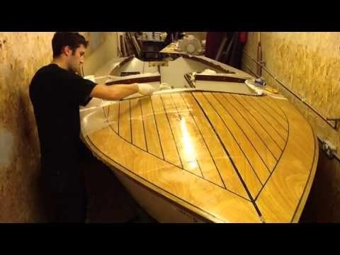 Time Lapse Epoxy Sheathing Plywood Boat Decks - YouTube