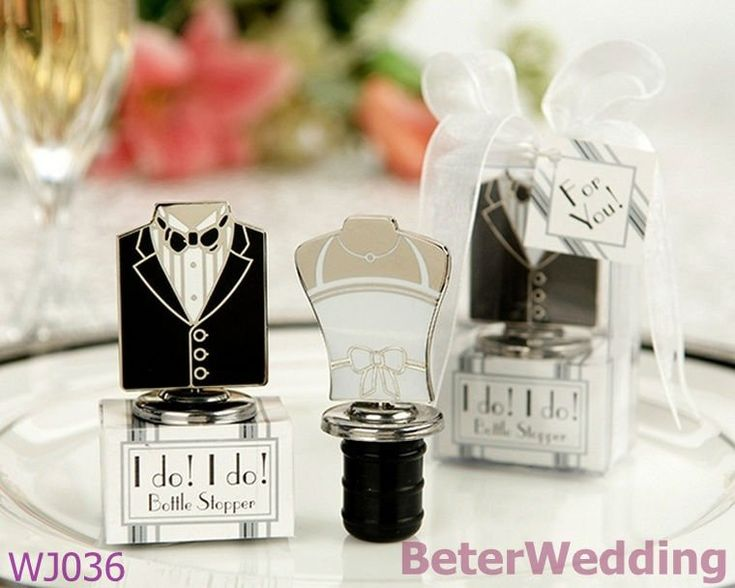 Wedding Bride And Groom Designs Wine Bottle Stopper Favors New Giveaway Gifts