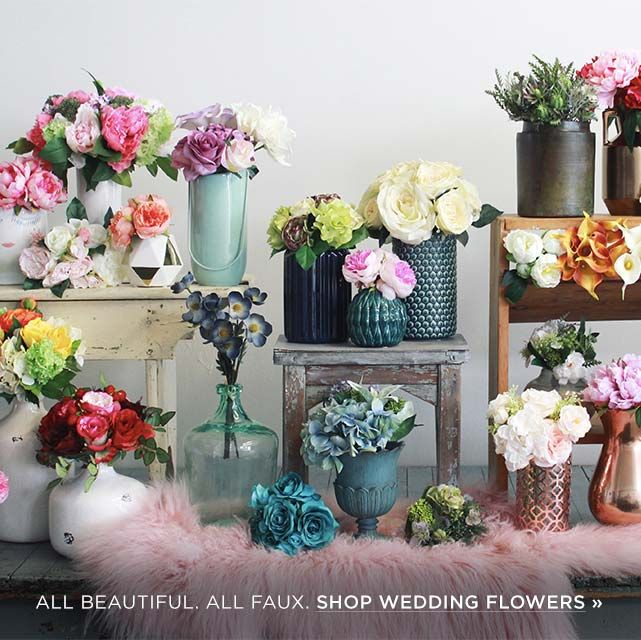 Looking for the best selection of silk flowers? Shop Afloral for great prices on superior faux flowers, vases, wedding bouquets, floral supplies, and more. Whether you are a bride, florist, event planner, or just love creating with flowers, Afloral's customer service reps are here to help. Wholesale pricing available to businesses.