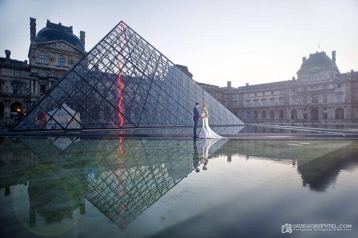 Luwr - Paryż - Francja - sesja ślubna www.grzegorzpytel.com