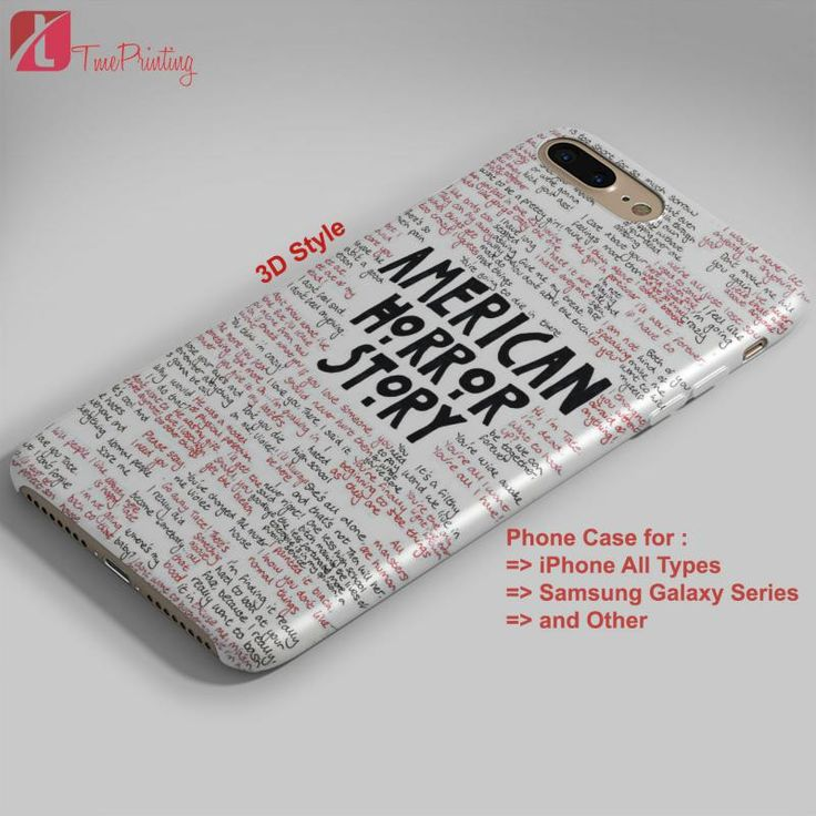 American Horror Story Quotes Collage - Personalized iPhone 7 Case, iPhone 6/6S Plus, 5 5S SE, 7S Plus, Samsung Galaxy S5 S6 S7 S8 Case, and Other