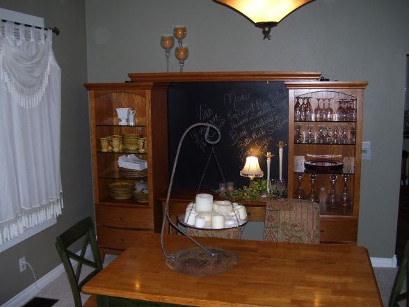 Repurposed Entertainment Center LOVE This Idea Refurbishing Furniture FurnitureDiy FurnitureDining Room HutchDining