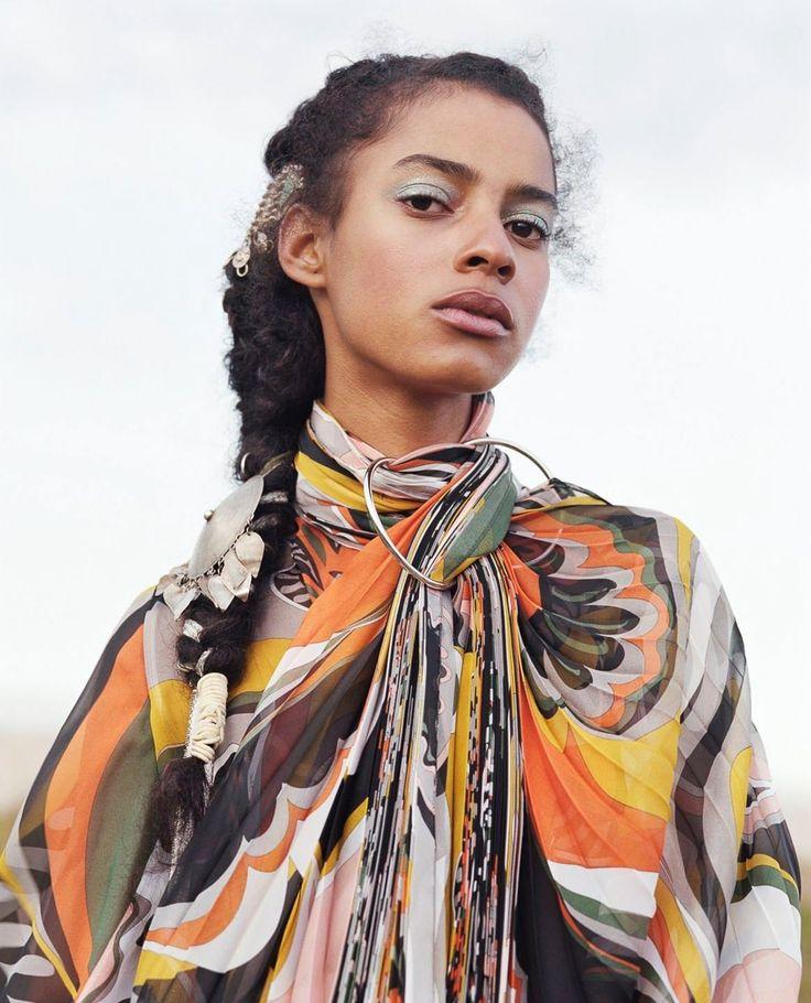 Photography: Sharif Hamza.Styled by: Elizabeth Fraser-Bell. Hair: Jawara. Makeup: Kanako Takase.Set Design: Bette Adams.Models: Khadijha Red Thunder, Kaya Wilkins and Amelia Rami.