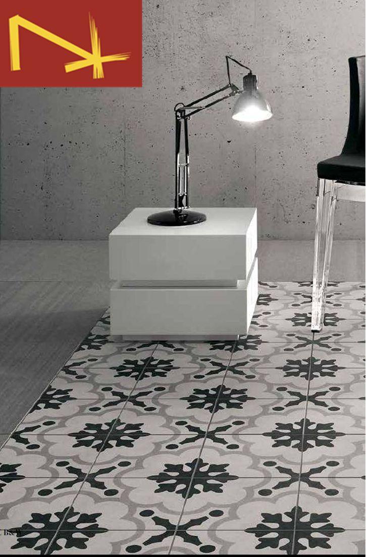 A 200 x 200 black and white pattern tile suitable for floor and walls. #patterntiles #tile #tiles #floortiles #walltiles #interiordesign #design #tiling