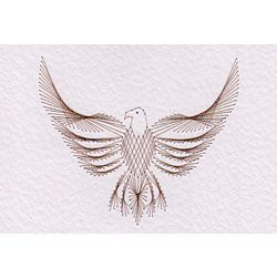 Stitching cards eagle pattern e cards string art for String art patterns animals