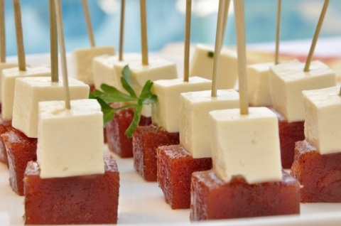 classic Brazilian dessert: Romeu e Julieta (white cheese with guava)