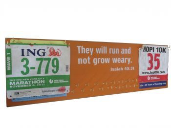 They will run and not grow weary... Inspirational medals display