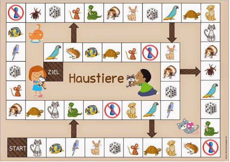 """Ideenreise: Spielfeld """"Haustiere"""" für Englisch und DAZ"""