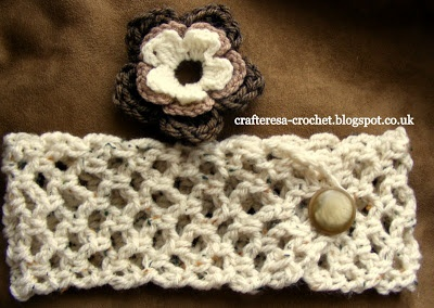 adjustable chunky crochet headband