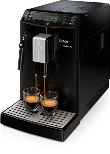 Saeco Minuto - Cafetera espresso super automática, con espumador de leche clásico, color negro - Tec Ofertas España