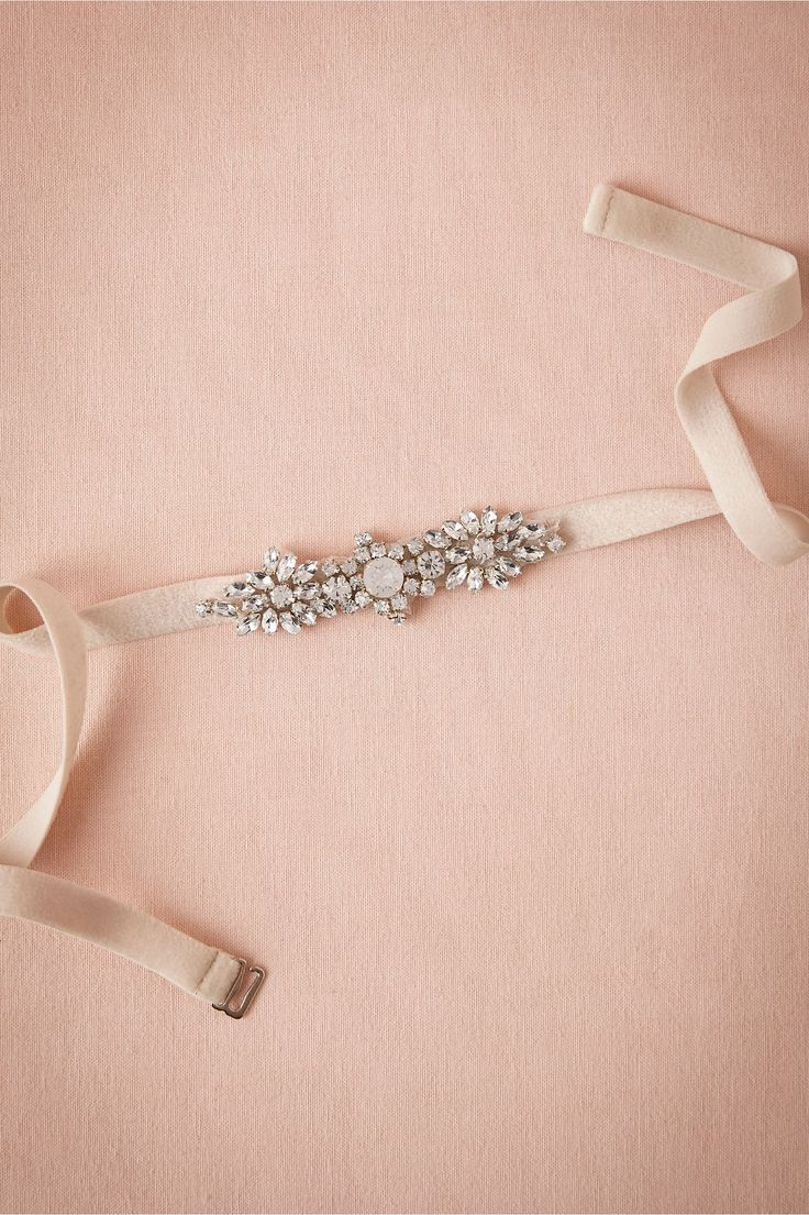 Mischka Bridesmaid Belt from BHLDN. * Again, add a belt to the Maids... or even a bigger belt... FUN! ;o)