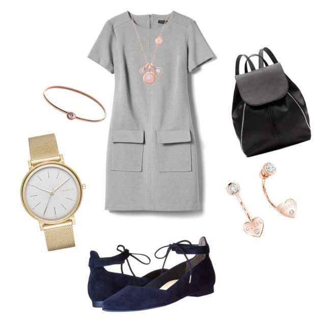 """""""Untitled #3"""" by madalina-diaconu on Polyvore featuring Banana Republic, Paul Green, Witchery, FOSSIL, GUESS, Michael Kors and Skagen"""