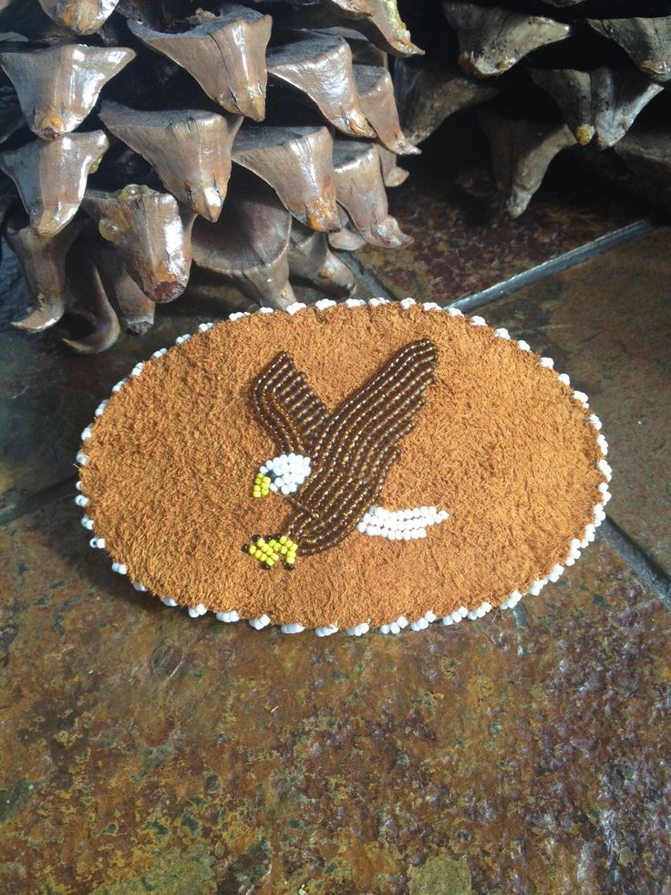 A personal favorite from my Etsy shop https://www.etsy.com/listing/280518296/beaded-eagle-barrette
