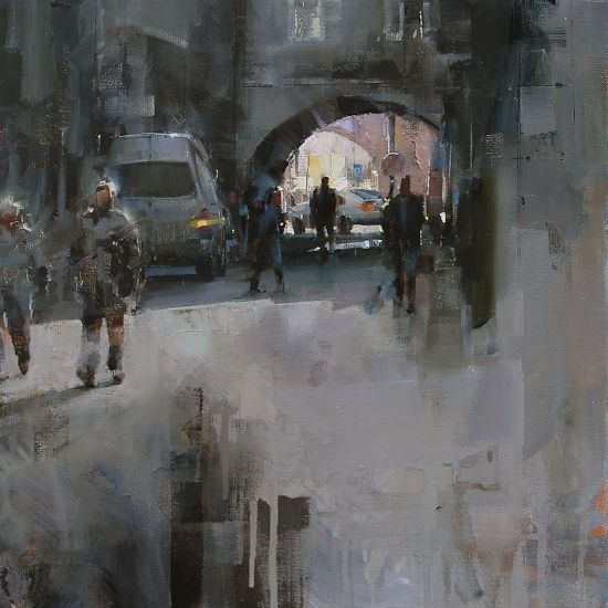 Under the Arches by Tibor Nagy Oil ~ 15,7 x 15,7