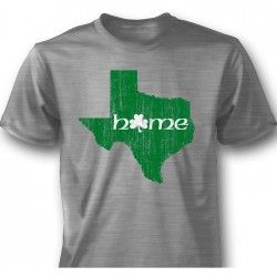 Texas Irish Home T-Shirt. Made of 100% cotton. Something for the proud Texan, who is Irish at heart!