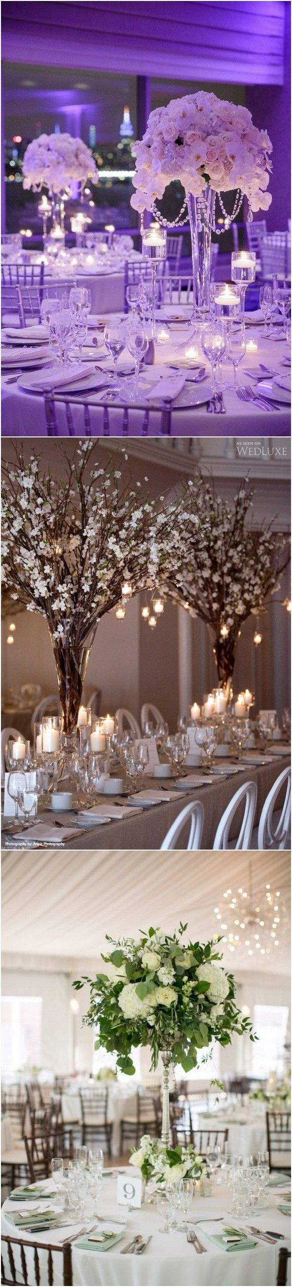 Tall wedding centerpiece ideas