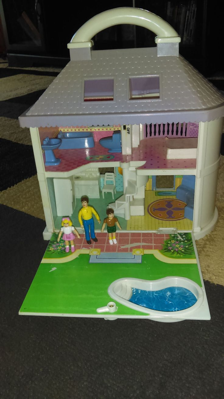 Blue Box Dream House Doll House With Lights In Every Room Plus  Peopleu0026Furniture