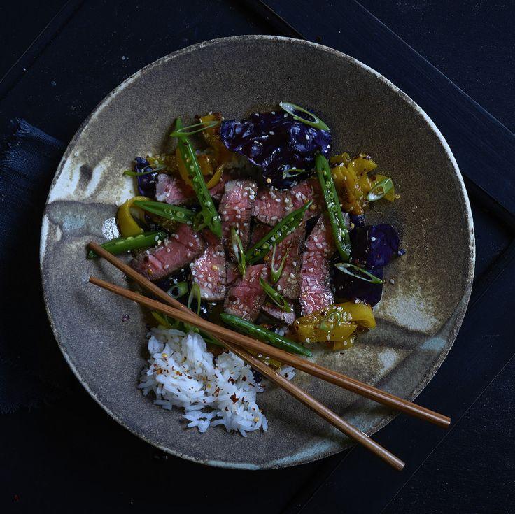 Thai Beef Sallad Photo: Ann Kristin Engebakken Chef: Magnus Sjøberg