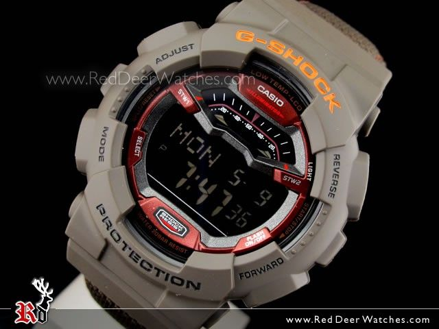 Casio G-Shock G-LIDE CORDURA fabric bands Brown Sport Watch GLS-100-5, GLS100