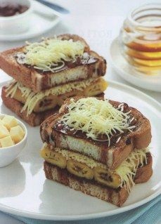 Resep Masakan Indonesia : Roti Bakar Pisang Madu Kraft | resepmasakansederhana