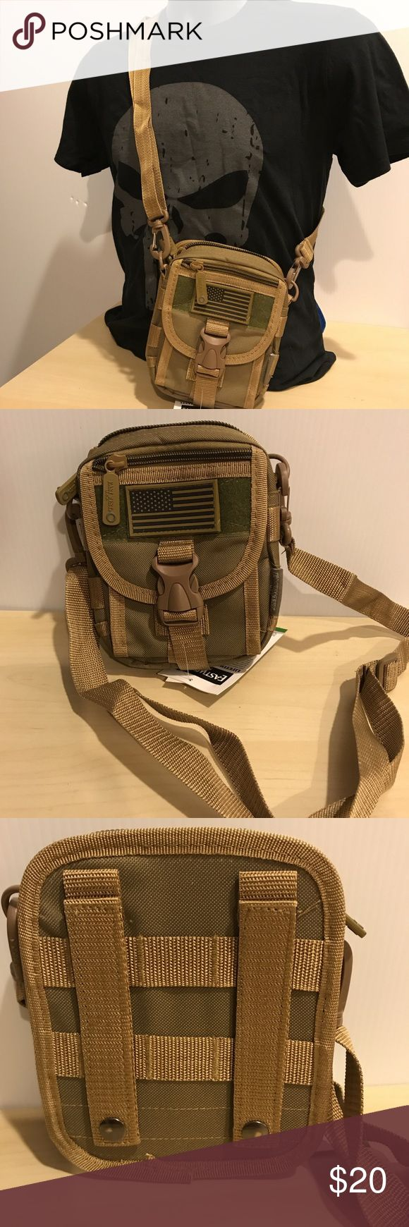 Tactical Molle Pouch Waist Belt Utility Gadget Bag Tactical Molle Pouch Waist Belt Utility Gadget Bag With its versatile design, the Tactical Utility Molle Waist Belt Pouch with Straps – Tan can be worn as a waist bag, shoulder bag, messenger bag, or chest bag, or attached to a larger gear bag for modular storage… Bags Messenger Bags